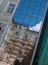 Фасад здания на ул. Лысенко. Этап реконструкции.